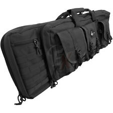 "Lancer 36"" BLACK .223 5.56 7.62 MOLLE Double Carbine Rifle Gun Storage Bag Case"