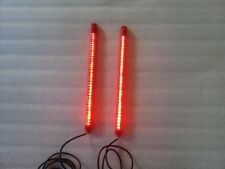 "HARLEY BAGGER DUAL 9"" LED LIGHT STRIPS REAR FENDER STOP TURN SIGNALS & PARKING"
