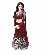 Bollywood Indian Ethnic Designer Wedding Semi Stitched Bridal Lehenga Choli Set