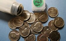"Lot of 1963-P  JEFFERSON  NICKELS, 1 Tube or 40 Coins Total, ""BU"" Uncirculated"