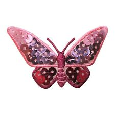 ID 2353 Sequin Wing Butterfly Insect Bug Embroidered Iron On Applique Patch