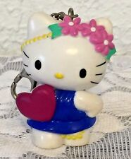 "Hello Kitty Key Chain 3"" Tall Hard Rubber Heart on Front Wings on Back NaKa USA"