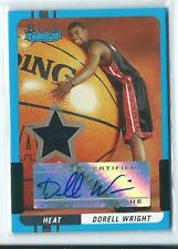 2004-05 Bowman Signature Dorell Wright JERSEY RELIC AUTO AUTOGRAPH RC #65 /399