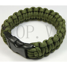 Paracord 550 Camping Para cord Bracelets Buckle Survival Hiking Hunting #2