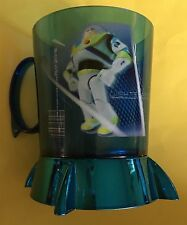 Disney Store Toy Story Buzz Acrylic Cup Mug Blue 2 Sided Rare