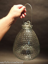 Large Antique Vintage Style Hobnail Glass Fly Wasp Bee Hive Bottle Trap