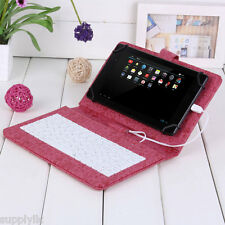 "7"" PU Leather Stand Case Cover for 7 inch MID Tablet PC with Micro USB Keyboard"