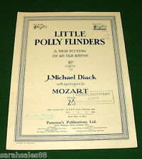 LITTLE POLLY FLINDERS Sheet Music: A New Setting of an Old Rhyme, © 1937
