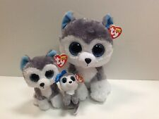 TY SET OF 3 SLUSH HUSKY BEANIE BOOS-NEW, MINT TAGS-READY FOR WINTER FUN