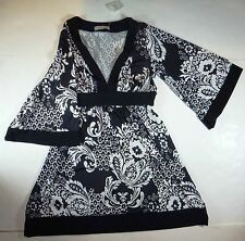*NWT* FOREVER WOMENS BLACK & WHITE FLORAL DRESS SIZE SMALL C168 BB3 A1