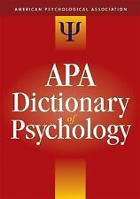 The APA Dictionary of Psychology-ExLibrary