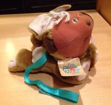 NWT Vintage Rare 1986 Cabbage Patch Kids Pets Brown Dog Collar Leash Puppy •