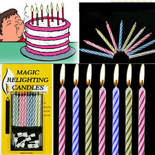 10 x Magic Relighting Candle Relight Birthday Party Fun Trick Cake Xmas Joke JD