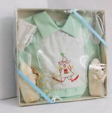 Vintage Baby Newborn Outfit set with shoes in original UNOPENED box 60's? F Ship