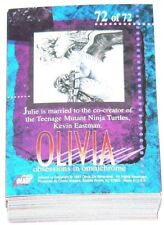 1997 Comic Images Olivia Obsessions in Omnichrome complete 72 card base set
