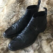 ROBERTO BOTTICELLI Black  Leather Shoes Boots 42 UK 8