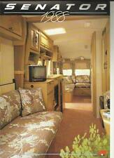BAILEY SENATOR 2000, 4000, 5000, 6000 & 7000 CARAVAN SALES BROCHURE 1988 +PRICES