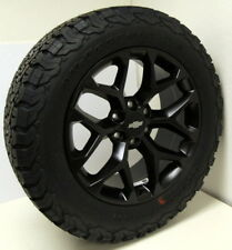 "New Black 20"" Chevy Z71 Silverado 1500 Tahoe Snowflake Wheels BF GOODRICH Tires"