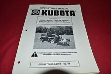 Kubota F13619 Flail Mower for F2000 Tractor Operator's Manual CHPA