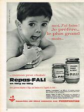 PUBLICITE  1964   FALI   de PHOSPHATINE   aliments bébé