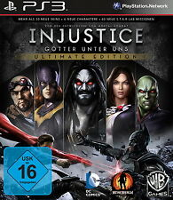 SONY PS3 Injustice Gods Among Us Steelbook Steel Box deutsch french OVP komplett