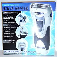 Aqua Shave Pro Wet Dry Foil Shaver Rechargeable Complete Mens Shaving Kit GM7043