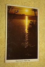 Vintage Postcard Beginning Of A Perfect Day, Sun Reflecting On A Lake
