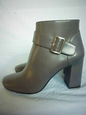 BNIB SUPERB NEW LUXURY PRADA GREY LEATHER ANKLE BOOTS SIZE 41 FIT UK 7.5 £850