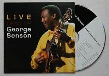 George Benson Live - Best Of Adv Cardcover CD 2005 Jazz