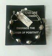 NWT Authentic ALEX AND ANI Impulse Indie ONYX Pyramid Bead Bangle Bracelet BOX
