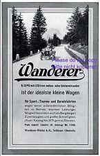 Wanderer Automobile Reklame 1913 5 12 PS Schönau Chemnitz Auto Werbung +