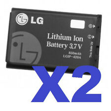 2 FOR 1 OEM LGIP-420A Cellphone Battery for AX275 AX300 AX500 AX380 UX280