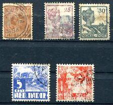 Nederl-Indie HOLLAND - Niederlande 5 uralte Briefmarken - gestempelt