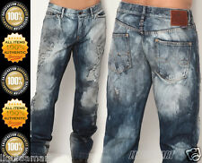 W38 38 DOLCE & GABBANA WASHED BLUE DISTRESSED LOW RISE ZIP JEANS D&G D G MENS DG