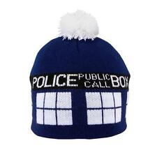 Doctor Who Official Licensed TARDIS Beanie POM POM Winter HAT Police Box GIFT