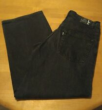 Levis Mens L2 Black Jeans Sz 33 x 34  Baggy Fit  Vintage USA Cotton Denim