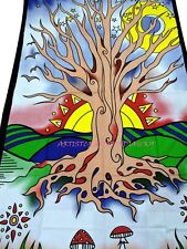 Indian Wall Hanging Colorful Poster Traditional Life Of Tree Sun Tapestry SB 52F