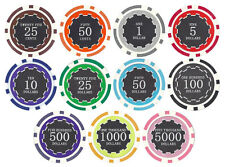 New Bulk Lot of 500 Eclipse 14g Casino Quality Clay Poker Chips - Pick Chips!