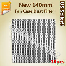 10X 140mm Computer PC Cooler Fan Case Cover Dust PVC Filter Mesh with 40 screws