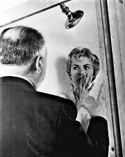 "New 8x10 Photo: Janet Leigh and Alfred Hitchcock in Production of ""Psycho"", 1960"