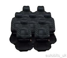 FULL SET 7X BLACK SEAT COVERS CUSHION  FOR 7 SEATER CAR MPV VAN
