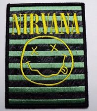 nirvana smileys stripes  EMBROIDERED  PATCH IRON OR SEW
