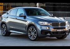 BLACK BMW X6 M50D NEW A3 CANVAS GICLEE ART PRINT POSTER