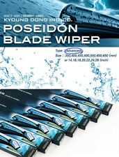 "POSEIDON Blade Windshield Wiper 24"" 18"" PAIR 2pcs 1SET For Hyundai KIA Vehicles"