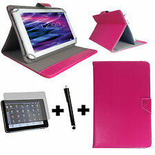 7 zoll Tablet Tasche + Folie + Stift - Huawei Ideos S7 Slim 7 - 3in1 Pink 7
