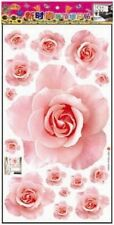 Pink Rose Flowers Wall Sticker Decal Vinyl Art Home Decor Removeable