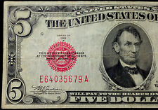 1928-B MULE $5 Five Dollar Bill US Currency, 1928B United States Note