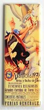 Pamplona 1939 FRIDGE MAGNET insert poster running of the bulls bull fighting
