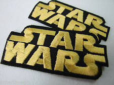Set mit 2 STAR WARS - Klassisch Logo Bestickt Film Flicken - Zum Aufbügeln