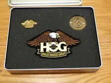 2017 Harley Owners Group HOG Patch, Pin, & Challenge Coin Set in Comem Tin - NEW